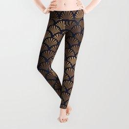 Art Deco Shell Pattern Leggings