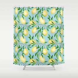 Lemon mood.1 Shower Curtain