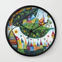 snail Wall Clocks featuring Snail by Annabies