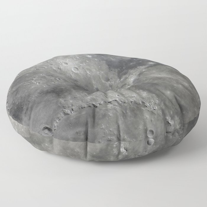 craters on the moon Floor Pillow