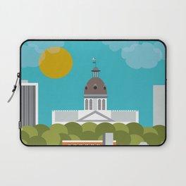 Columbia, South Carolina - Skyline Illustration by Loose Petals Laptop Sleeve