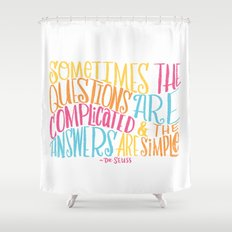 SIMPLE ANSWERS Shower Curtain