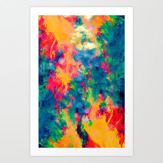Summer Swirl Art Print
