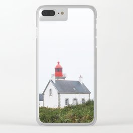 26. Lighthouse in countryside, Bretagne, France Clear iPhone Case