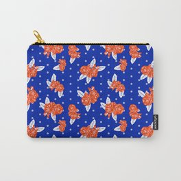 Florida fan gators university orange and blue team spirit football college sports florals Carry-All Pouch