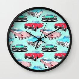 Retro Fins + Fenders in Mod Mint Wall Clock