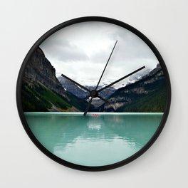 Lake Louise #mountains Wall Clock