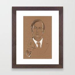 A Criminal Lawyer Framed Art Print