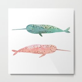 Narwhals on their way Metal Print