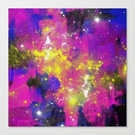 Journey Through Space - Abstract purple and blue, space themed artwork Canvas Print