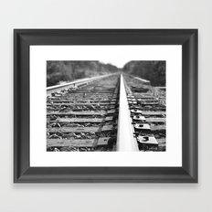 Railroad to nowhere Framed Art Print