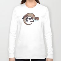 otter Long Sleeve T-shirts featuring Otter by Jemma Salume