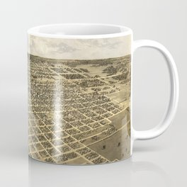 Vintage Pictorial Map of Springfield IL (1867) Coffee Mug