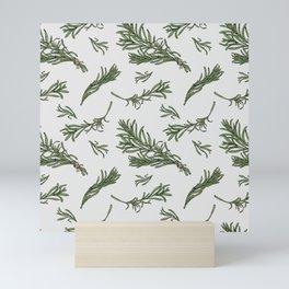 Rosemary rustic pattern Mini Art Print