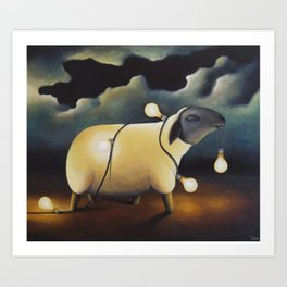 Party Sheep Art Print