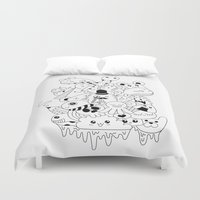 doodle Duvet Covers featuring Doodle by Malia León
