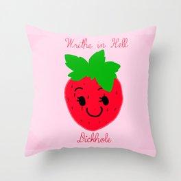 StrawDarey Throw Pillow