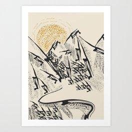 Rocky mountain Art Print