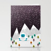 yeti Stationery Cards featuring Yeti by Kakel