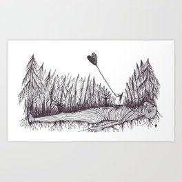 The Heart Is Blown Upon The Breeze Art Print