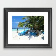 Maldivian lounge Framed Art Print