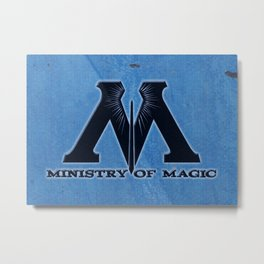 Ministry of Magic Metal Print