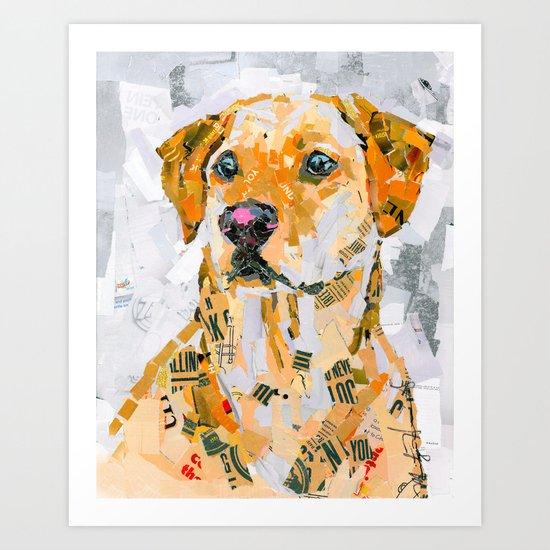 Charlie The Labrador Art Print
