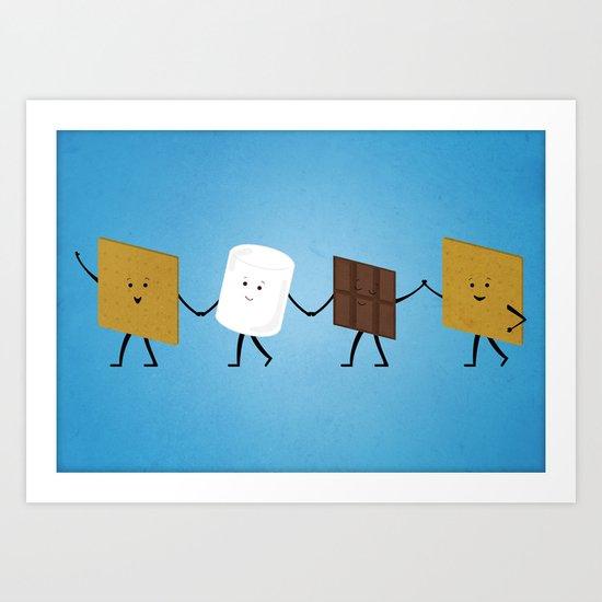 Smores - Best Friend Art Print