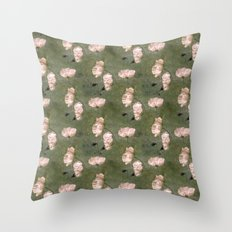 White Poppies Throw Pillow
