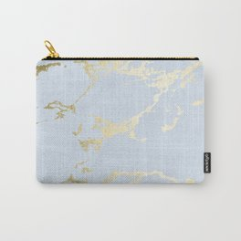 Kintsugi Ceramic Gold on Sky Blue Carry-All Pouch
