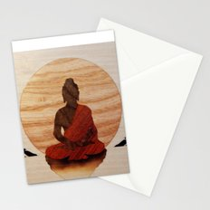 Buddha marquetry Stationery Cards