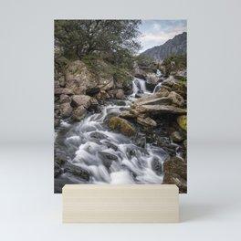 Waterfalls in Snowdonia II Mini Art Print