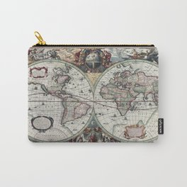 Antique World Map 1630 Carry-All Pouch