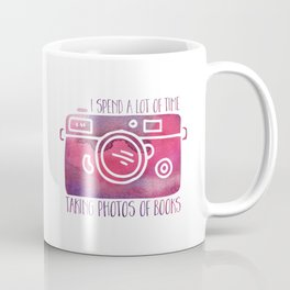 I Spend a Lot of Time Taking Photos of Books - Purple Coffee Mug
