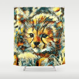 AnimalArt_Cheetah_20170602_by_JAMColorsSpecial Shower Curtain