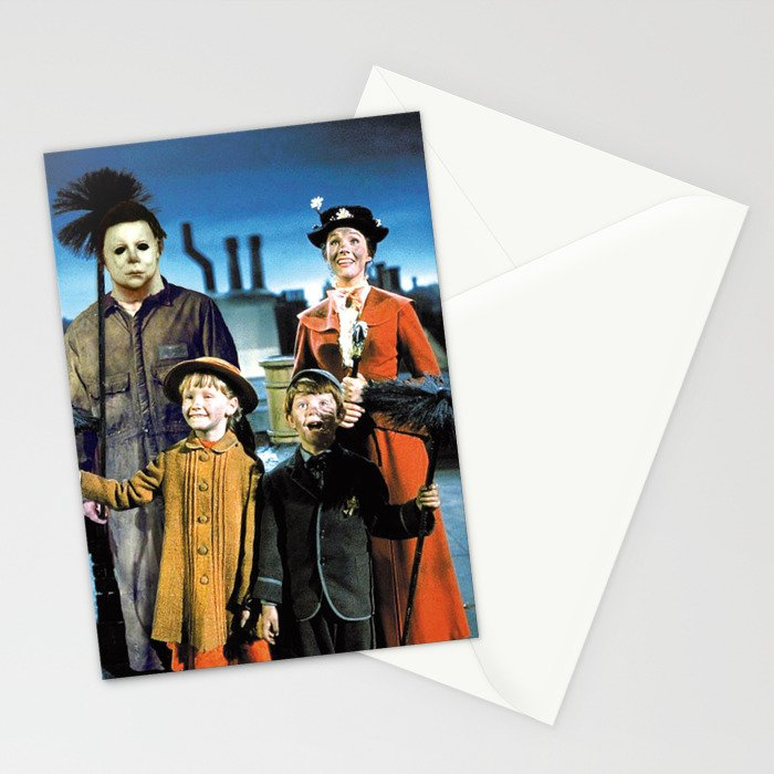 Michael Myers in Mary Poppins Stationery Cards