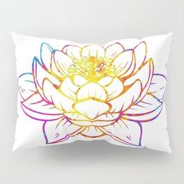 Watercolor Lotus Pillow Sham