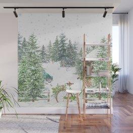 Snowy Winter Wall Mural