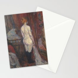 Woman Before a Mirror- Henri de Toulouse-Lautrec Stationery Cards