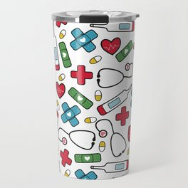 Cute Nurse Pattern Travel Mug