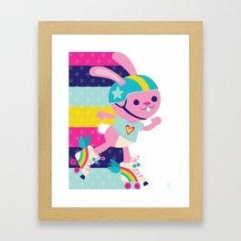 Jammer Bunny Rosa Framed Art Print