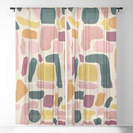 Blocks Sheer Curtain