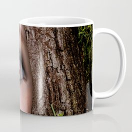 Beautiful Face trapped in a tree trunk Coffee Mug