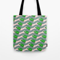 wallet Tote Bags featuring Money by mailboxdisco