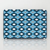 preppy iPad Cases featuring Blue Preppy Argyle by markmurphycreative