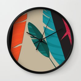 More Feathers Wall Clock