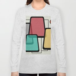Mid-Century Modern Art Landscape 1.1 Long Sleeve T-shirt
