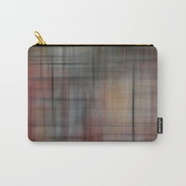 Abstract Multicolored Tartan Carry-All Pouch