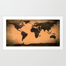 Abstract Earth Science Map Art Print