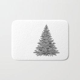 Christmas Tree - Black and White Bath Mat